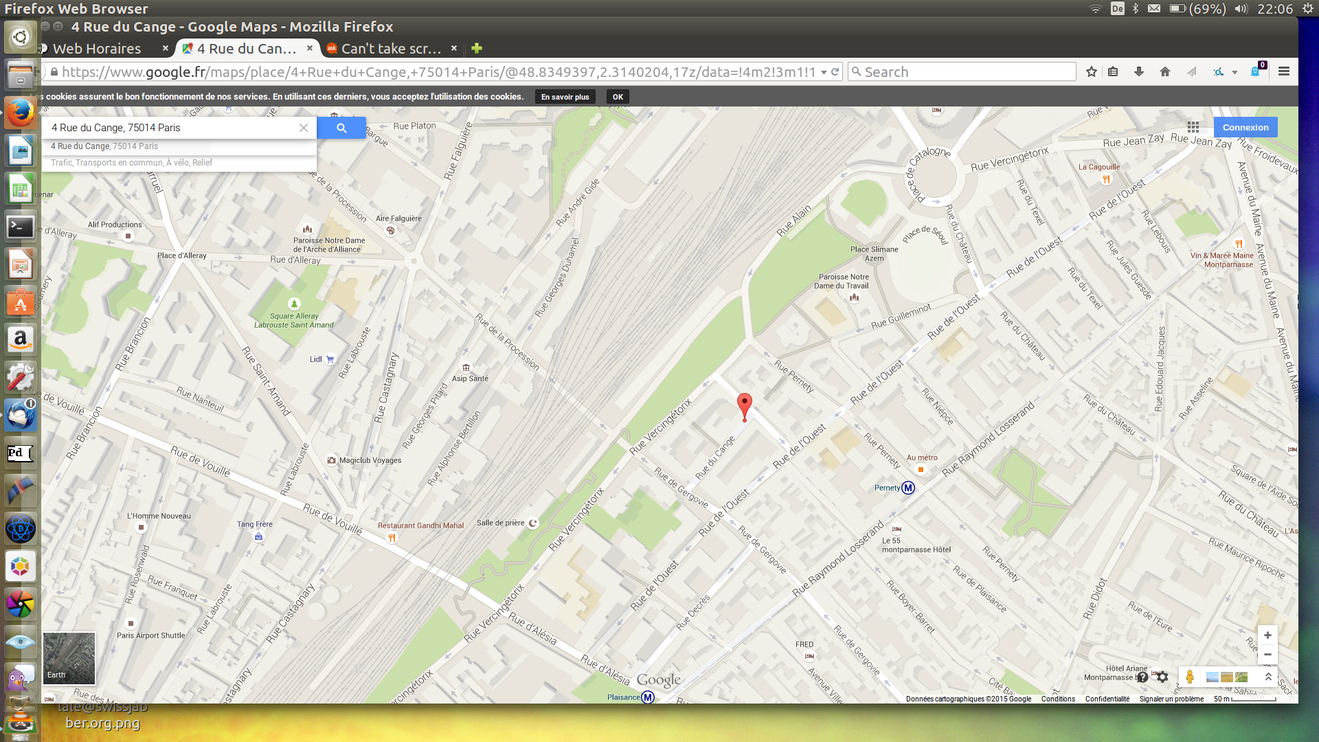 150709_Screenshot_Gare_Montparnasse_Rue du Cange_Paris